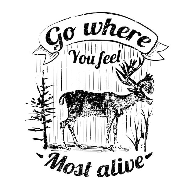 Ilustracja logo dzikich jeleni