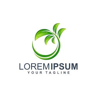 Ilustracja logo ekologicznego liścia