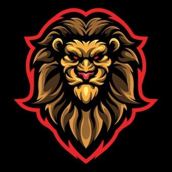 Ilustracja logo esport głowy lwa