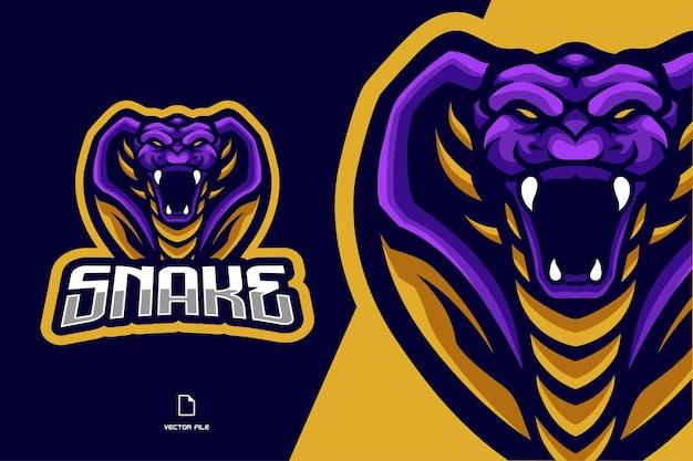 Ilustracja logo esport maskotka węża kobry