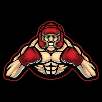 Ilustracja logo esport trenera boksu