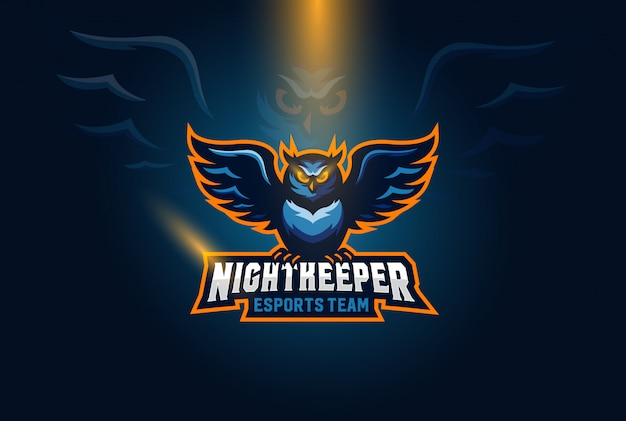 Ilustracja logo esports sowa