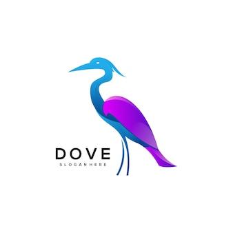 Ilustracja logo flamingo kolorowy gradient