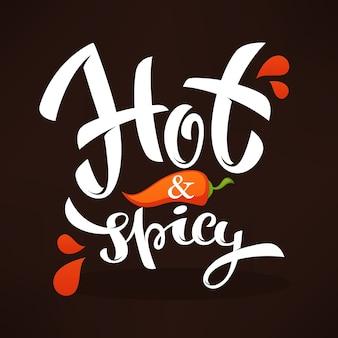 Ilustracja logo gorącej i pikantnej papryki chili