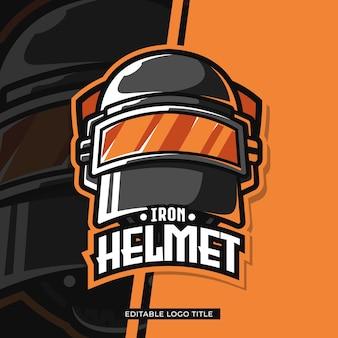 Ilustracja logo hełmu bojowego