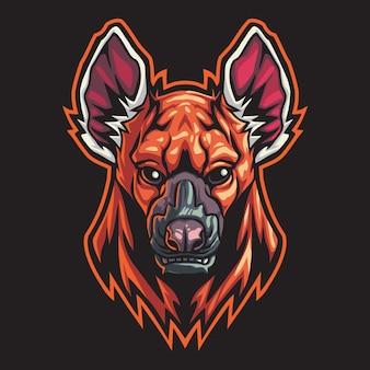 Ilustracja logo hieny esport
