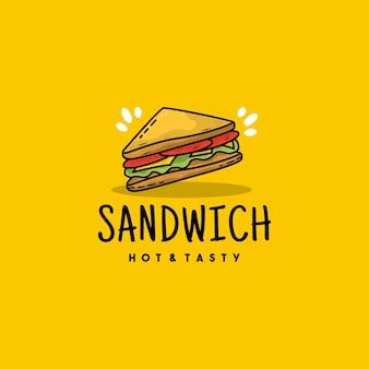 Ilustracja logo ikona kreatywnych kanapek