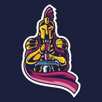 Ilustracja logo king knight esport