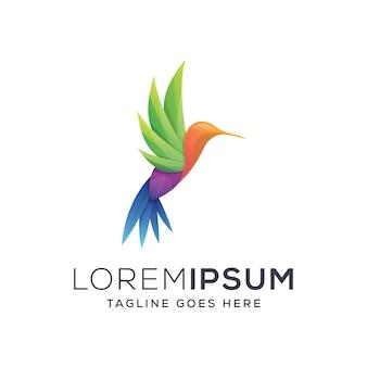 Ilustracja logo kolibra