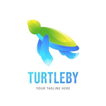 Ilustracja logo kolorowy żółw