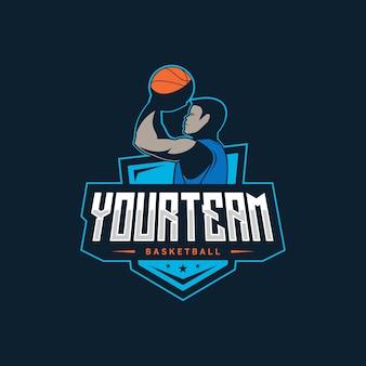Ilustracja logo koszykówki