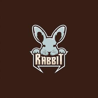 Ilustracja logo królika