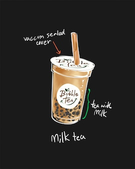 Ilustracja logo kubek kawy