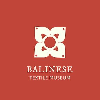 Ilustracja logo kwiatu do brandingu