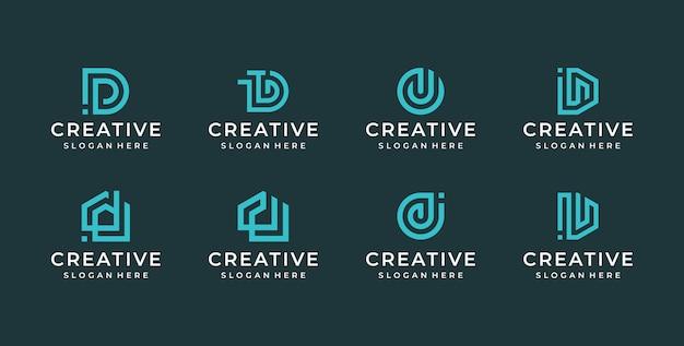 Ilustracja logo litery d.