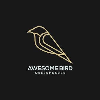 Ilustracja logo luksusowego ptaka dla twojej firmy