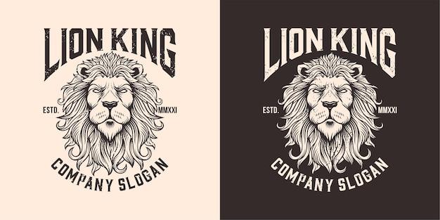 Ilustracja logo maskotka głowa lwa