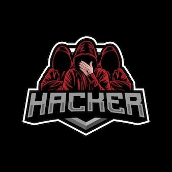 Ilustracja logo maskotka hakera