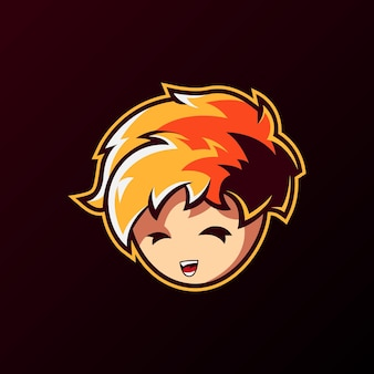 Ilustracja logo maskotki gracza
