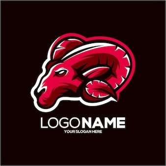 Ilustracja logo maskotki owiec