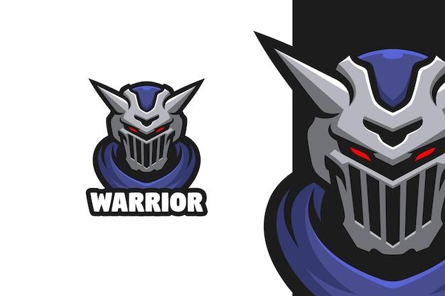 Ilustracja logo maskotki zbroi wojownika