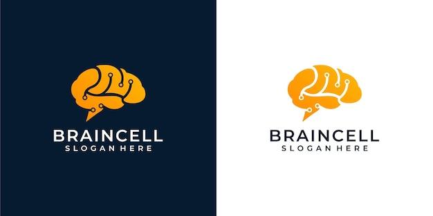 Ilustracja logo mózgu