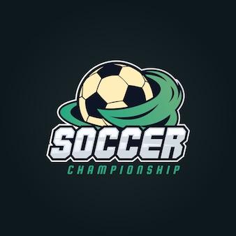 Ilustracja logo nowoczesnej soccer badge