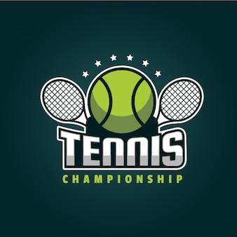 Ilustracja logo nowoczesny znaczek tenisowy