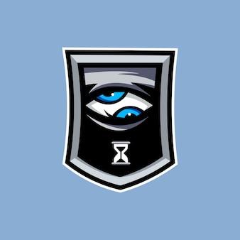 Ilustracja logo oka, która widzi czas