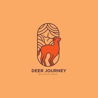 Ilustracja logo podróży jelenia