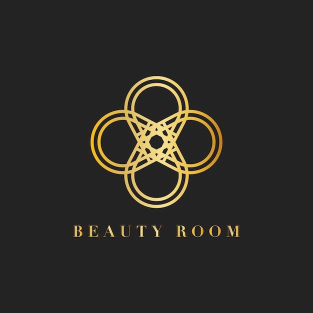 Ilustracja logo pokoju piękności