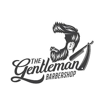 Ilustracja logo projekt broda człowieka