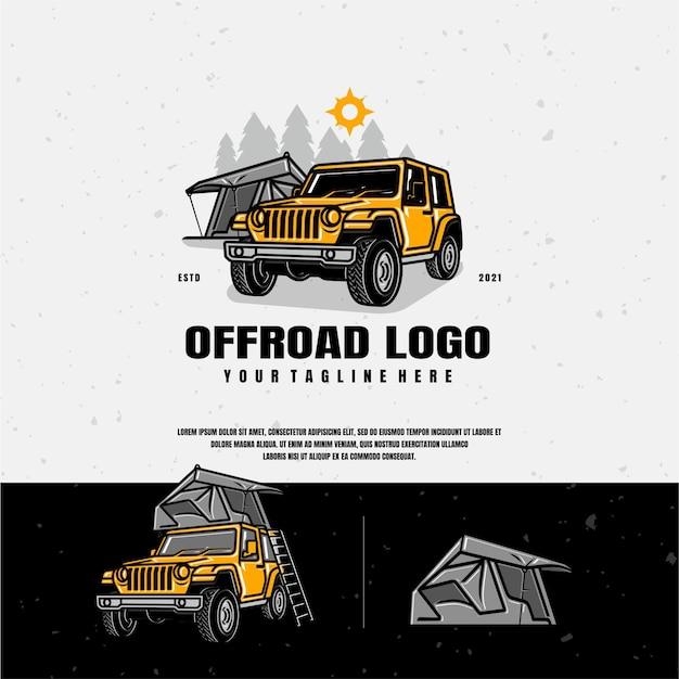 Ilustracja logo przygody offroad
