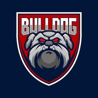 Ilustracja logo psa bulldog