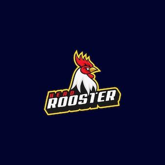 Ilustracja logo rooster e sport i styl sportowy