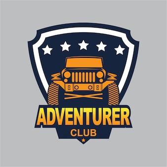 Ilustracja logo samochodu, logo podróżnika