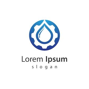 Ilustracja logo silnika wodnego