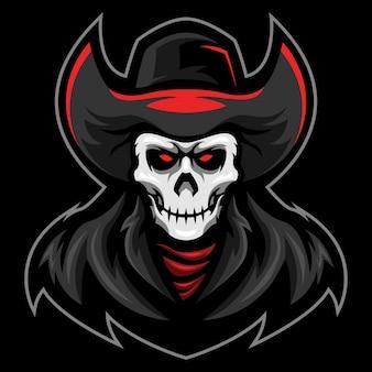 Ilustracja logo skull mafia esport