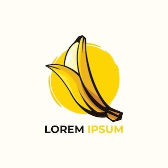 Ilustracja logo słodkich bananów