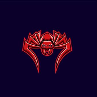Ilustracja logo sport czerwony pająk