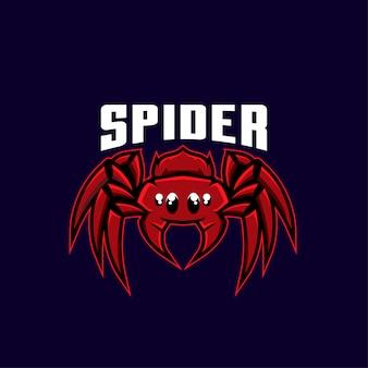 Ilustracja logo sport pająk