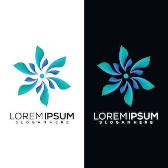 Ilustracja logo streszczenie kwiat