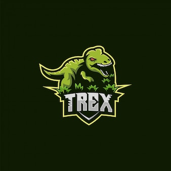 Ilustracja logo t rex