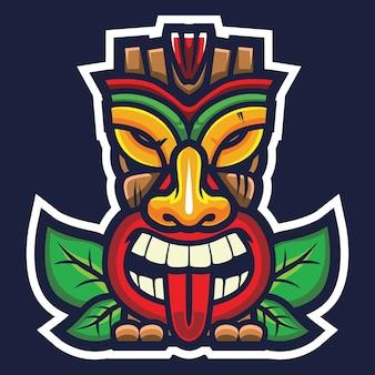 Ilustracja logo tiki mask esport