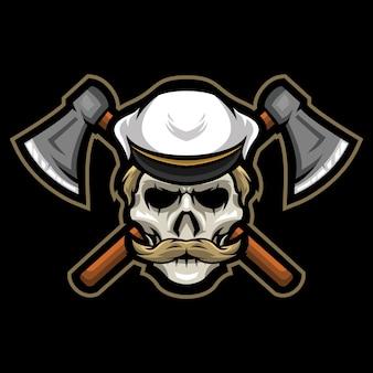 Ilustracja logo undead sailor esport