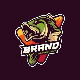 Ilustracja logo wektor maskotka ryb