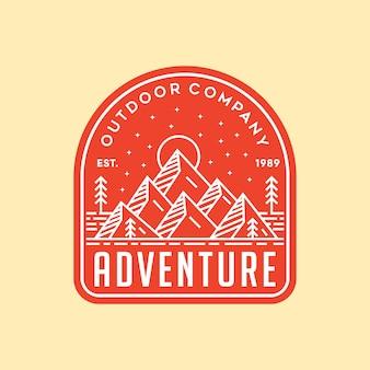Ilustracja logo wektor przygoda