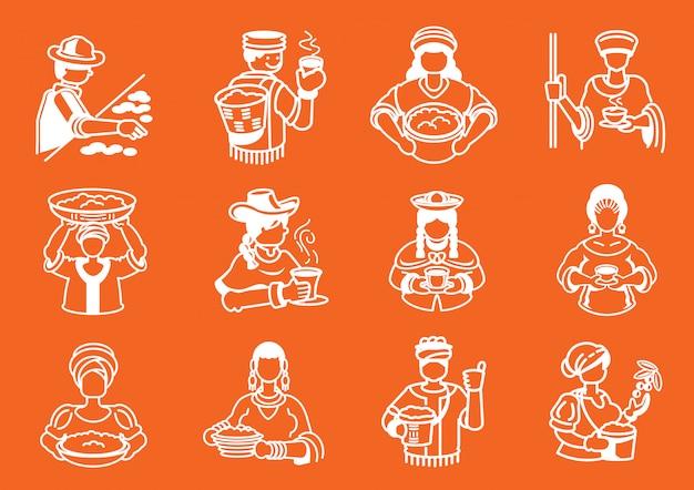 Ilustracja lokalnych rolnik kawy