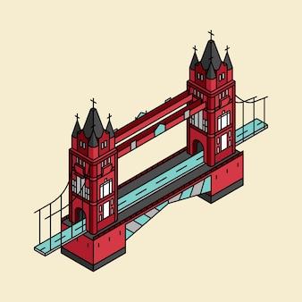 Ilustracja londyn most w uk