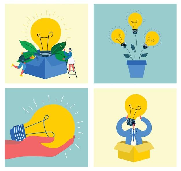 Ilustracja ludzi biznesu koncepcji biura w nowoczesnym stylu płaski. koncepcja biznesowa e-commerce i pracy zespołu
